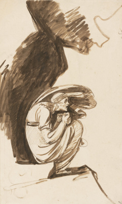 George Romney. The Lapland witch. Sketch