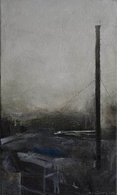 Matvey Weissberg. Winter landscape with a chimney