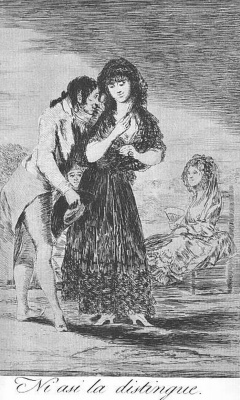 """Francisco Goya. """"He even so won't see it"""" (a Series of """"Caprichos"""", page 7)"""