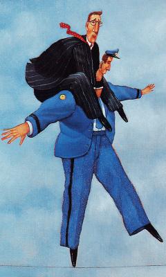 Дэйв Катлер. Полицейский и мужчина в галстуке