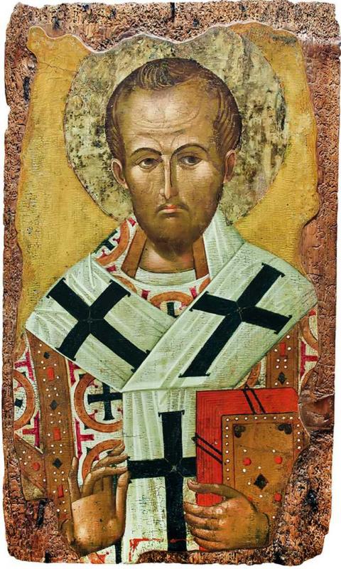 Болгарская икона. Святитель Иоанн Златоуст
