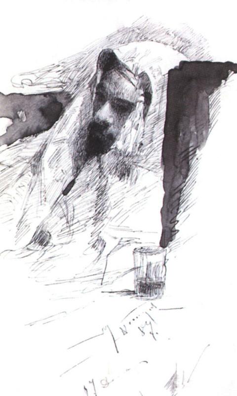 Mikhail Vasilyevich Nesterov. Levitan in Bedouin clothes