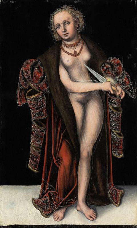 Лукас Кранах Младший 1515-1586. Лукреция