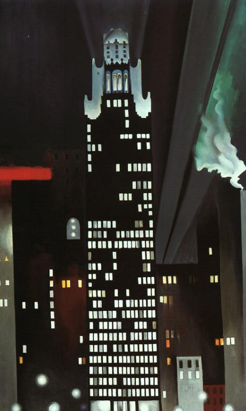 Джорджия О'Киф. Ночное здание, Нью-Йорк