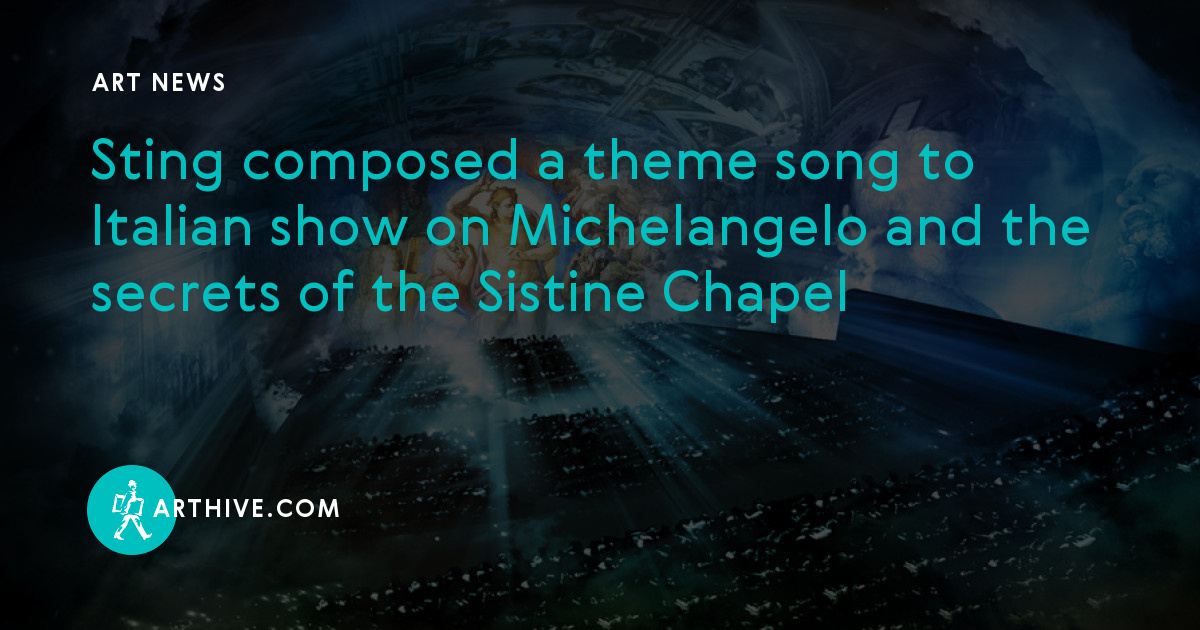 Sting composed a theme song to Italian show on