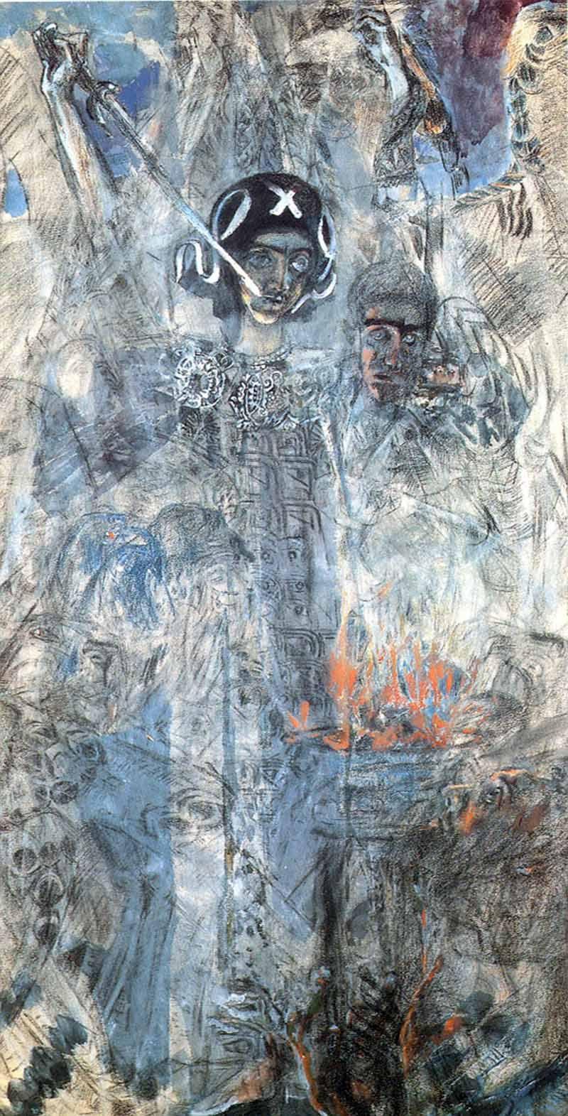 Михаил Александрович Врубель. Видения пророка Иезекииля